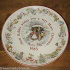 Peter Rabbit Beatrix Potter 1983 Christmas Plate Wedgwood Etruria