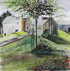 FARM Barn LANDSCAPE Original Watercolor Painting JMW art John Williams history