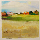 ORIGINAL Farm Barn Landscape Painting John Williams art  JMW Impressionism