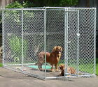New Chain Link Dog Kennel Enclosure Pen 5'x 10' x 6' High Galvanized Steel Frame