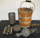 VTG ANTIQUE HAND CRANK WHITE MOUNTAIN TRIPLE MOTION 2 QT RARE ICE CREAM FREEZER