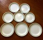 VINTAGE CORELLE GREEN CRAZY DAISY DINNER/LUNCH  PLATES/DISHES- 8