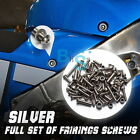 Silver Fairing Bolt Kit Screws Fasteners Nuts KAWASAKI EX500 GPX500 500R BSE
