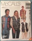McCalls Sewing Pattern 6761 Mens or Womens Vest size M 34-36 Cut 1993