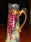 ANTIQUE FRENCH J.P.L. PORCELAIN VASE WITH HANDLE HAND PAINTED BY STUEBNERS