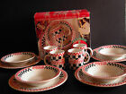 Coca-Cola Diner 12 pc Dinnerware Set - 4 Mugs, 4 Bowls, 4 Plates - Gibson 1996