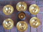 7 piece vintage fine hammered dishes in the style of India