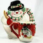Fitz and Floyd Gift Gallery Holiday Mug and Plate Set Christmas-Snowman- NIB