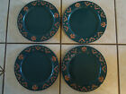 SET OF 4 Frankoma Teal Green Eagle Hawk Dinner Plates USA Terra Cotta