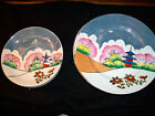 Vintage T T Japan Lusterware China Saucers And Desert Plates Hand Painted Set 10