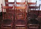 WINDSOR ROD BACK SIDE CHAIRS- DINING ROOM SET OF SIX- ANTIQUES