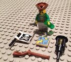NEW / Lego Pirate Mini- Figure / 6 Accessories / Eye Patch / 70412 / Green Shirt