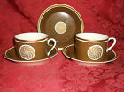 2 FITZ AND FLOYD MEDALLION D'OR CUPS AND 3 SAUCERS EUC!!