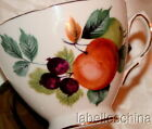 Royal Vale England Tea Cup and Saucer Fruit & Apples Gilt Fancy Teacup Duo 8225