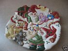 Fitz & Floyd Holiday Elf Canape Plate