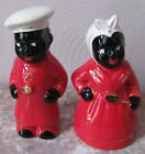 Black Americana Aunt Jemima & Chef Salt & Pepper Shaker Set - Red