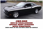 Qg-840 2011-16 Dodge Challenger - Upper Body Side Stripe With Pinstripe