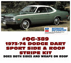 Qg-389 1973-74 Dodge Dart Sport - Side Over Roof Stripe Kit