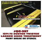 Qg-397 1971-72 Plymouth Duster - Twister Ladder Hood Paint Stencil Or Pb Stripe