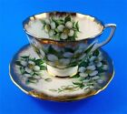 Pretty Dogwood Adderley Tea Cup and Saucer Set