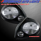 Set of Pair All Clear Lens Black Taillights for 2002 2003 Nissan Maxima