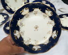 very RARE (6) minton pattern H 4405 / cobalt blue & gold 8 3/4