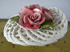 Ceramiche Lanzarin Italian Hand Made Porcelain Basket With Roses