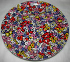 Block Bidasoa Spain Floral Lunch / Salad Plate Purple Red Flowers Espana Florida