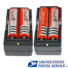 4x Ultrafire 18650 3.7v 5800mAH Rechargeable Li-ion Battery+2X Smart Charger USA