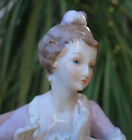 Pin cushion Deco Victorian lady Porcelain half doll German halfdoll handpainted
