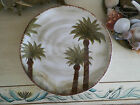 Z GALLERIE FIJI  Hand Painted Palm Trees 8 3/4
