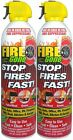 Fire Extinguisher Home Kitchen Fire Gone Fast Easy Use Office Boat Car 16oz Set2