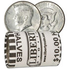 90 Silver 1964 Kennedy Half Dollars Roll of 20 10 Face Value
