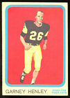 1963 TOPPS CFL FOOTBALL #34 GARNEY HENLEY EX-NM HAMILTON TIGER CATS G B PACKERS