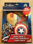 Marvel Avengers Iron Man & Captain America Twin Pack Mini Games W/ Backpack Clip