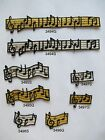 GoldSilver Musical SignsNotationStaff Embroidery Iron On Applique Patch