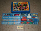 Vintage 1976 Lesney Matchbox Car Carrying Case with 14 cars and trucks very old