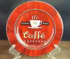 Sakura Stoneware Coffee Break Caffe Espresso Red Dessert Pie Salad Plate Mint