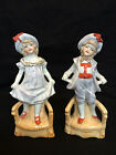 Antique german pair boy and girl +/- 1900