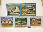 CHARLES WYSOCKI JIGSAW PUZZLES – LOT OF 5–1000 PIECES EA USED (NOT CHECKED)