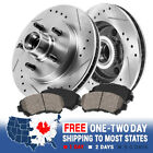 Front Drill Slot Brake Rotors +Ceramic Pads For Chevy S10 Blazer Pickup Jimmy
