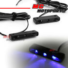 Slim Flush Blue LED Rear Fairing Peg Lights For Aprilia RSV Tuono 1000 05 06-08
