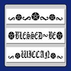 Set of 3 WICCAN Pentagram Swirls BORDER STENCILS Pentacle Gothic Witch Star