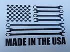 American Flag Sticker with Bolts and Wrenches MADE IN THE USA - 4