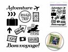Forever in Time Clear Cling Rubber Stamp Lets Travel Road Trip Vacation