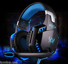 Professional Headphones for PC Computer Gaming Headset w Hidden Microphone LED