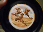 Vintage Hyalyn porcelain decorative plate Pheasants with gold tone rim