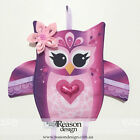 RD: Girls PINK PURPLE OWL ombre hair accessories/headbands/hair clip holder gift