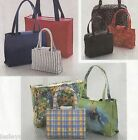 Handbags Purses in Two or Three Sizes and a Large Tote Bag UNCUT Sewing Pattern