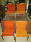 4 Mid-Century Modern Thonet Bent Plywood Stacking Chairs Eames Style Retro Look